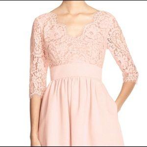 Eliza J. Lace Follie Dress in White Size 4